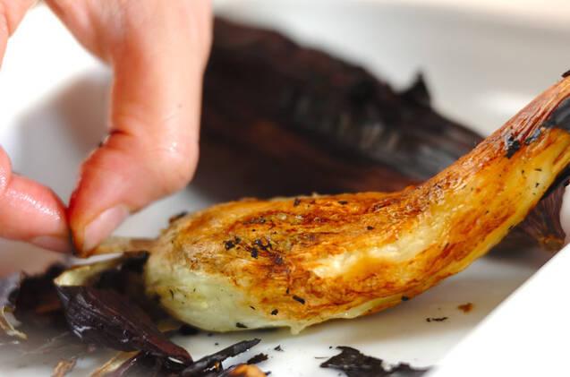 焼きナスの生ハム巻きの作り方の手順2