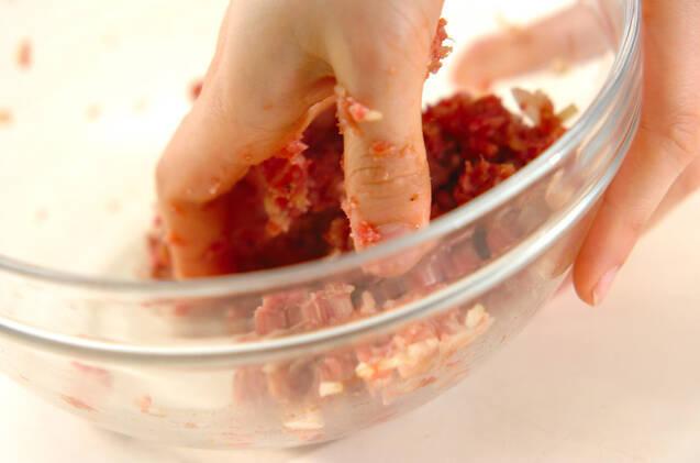 オイスター香る!トロトロナスのはさみ焼きの作り方の手順3