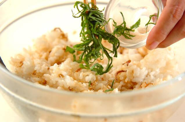カリカリジャコ混ぜご飯の作り方の手順3