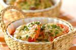 トマトのアンチョビチーズ焼き