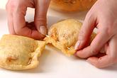 キムチ納豆の油揚げ袋の作り方2