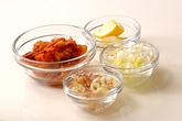 キムチ納豆の油揚げ袋の下準備1