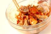 ゆで豚キムチの作り方2