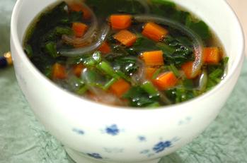 たっぷりホウレン草のスープ