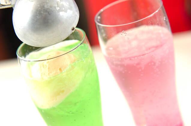 昭和のクリームソーダの作り方の手順2