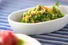 菊菜のゴマ和えの作り方の手順