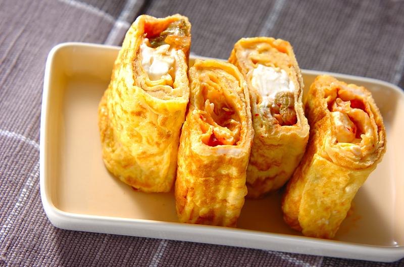 キムチ&クリチの卵焼き