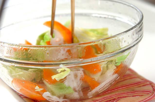 温野菜のピリ辛ゴマだれの作り方の手順2