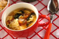 トマトとザーサイの卵スープ