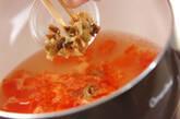 トマトとザーサイの卵スープの作り方5