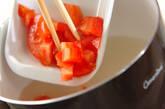 トマトとザーサイの卵スープの作り方4
