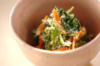 菊菜のゴマ白和え