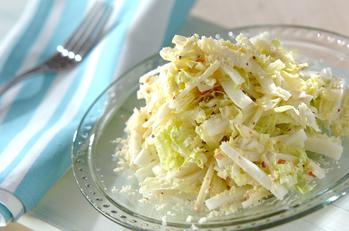 白菜とリンゴのシーザーサラダ