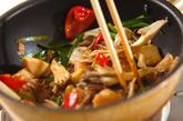 マイタケとニラの中華炒めの作り方2