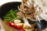 マイタケとニラの中華炒めの作り方1