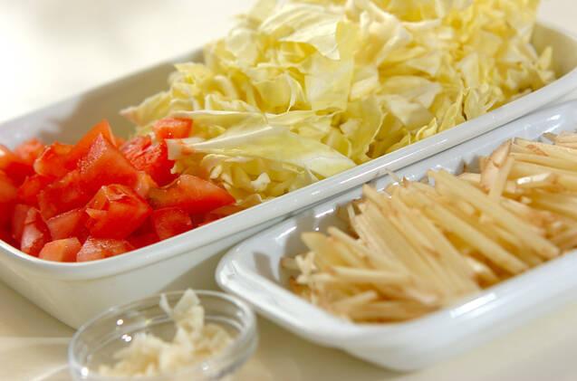 春キャベツと新ジャガのサラダの作り方の手順1