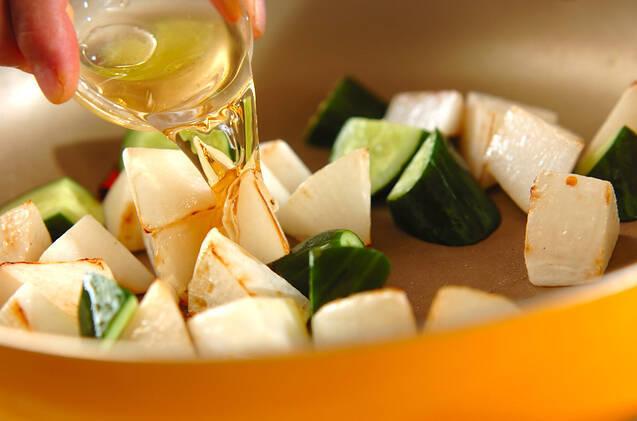 大根の甘酢炒めの作り方の手順5