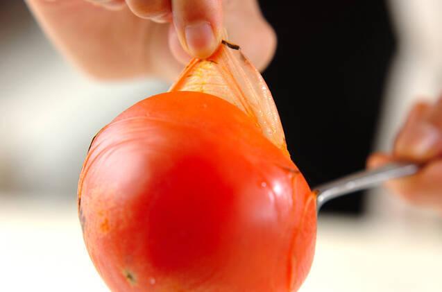 トマトのおろし和えの作り方の手順1