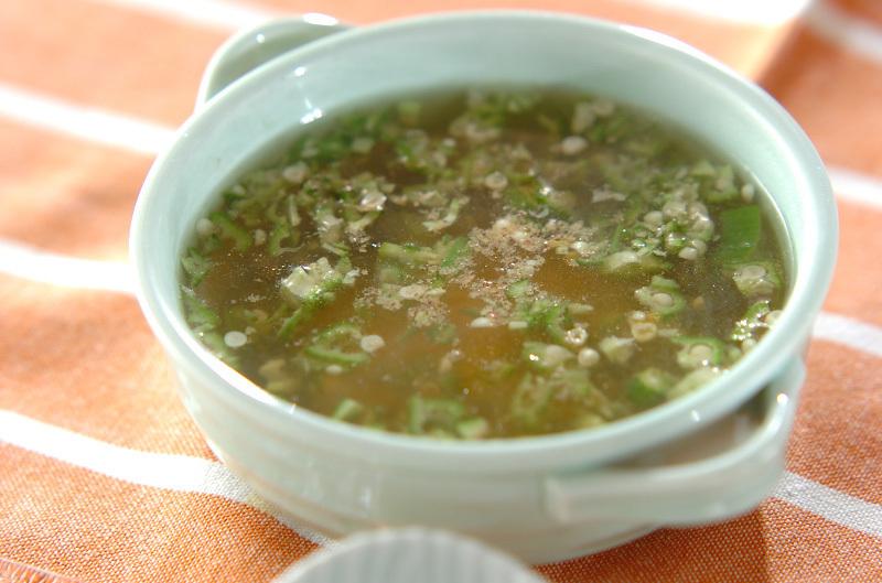 オクラとチーズのスープ