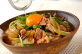 鶏肉のすき焼き丼の作り方3