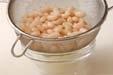 白インゲン豆のスープの下準備1