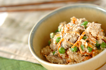 木綿豆腐の簡単白和え