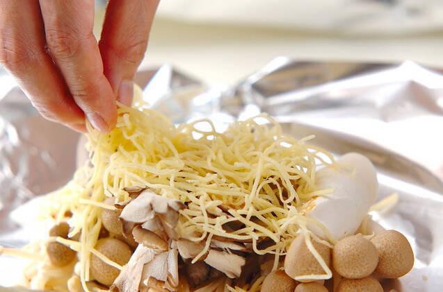 キノコのホイルチーズ焼きの作り方の手順6