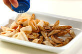 冷え予防・サバと根菜のニンニクショウガ漬け揚げの作り方7