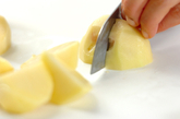 ジャガイモのコーン煮の下準備1
