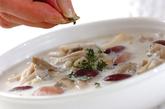 豆とキノコの白いスープの作り方3