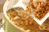 納豆とシメジの合わせみそ汁の作り方5