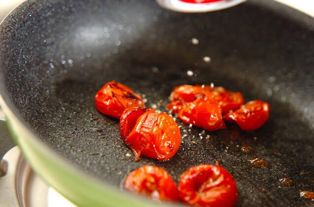 トマトと卵のイタリアン粥の作り方の手順4