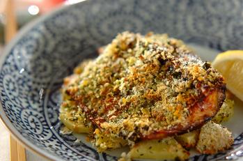 サバのカレー風味パン粉焼き