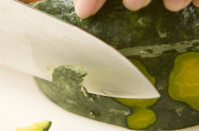 カボチャのカレーそぼろの作り方の手順1