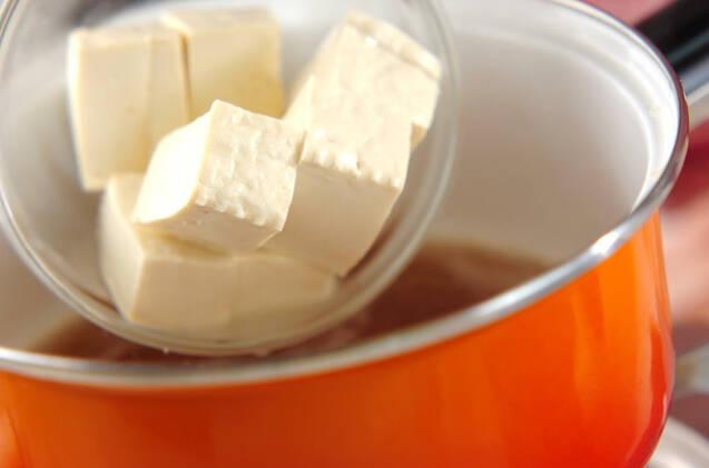 キムチと豆腐の卵とじの作り方の手順5