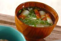 ちくわと長芋のスープ