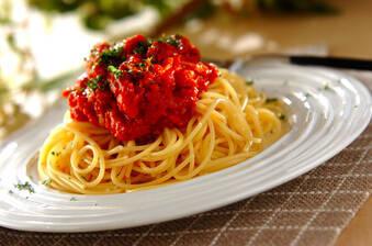 ツナとトマトのパスタ