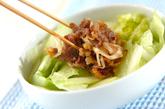 味付け肉のごちそうサラダの作り方2