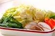 野菜のツナ煮の下準備1