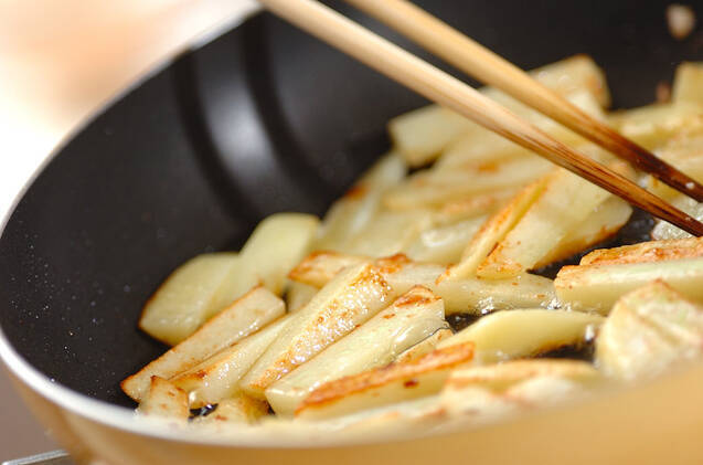 ジャガイモのユズポン炒めの作り方の手順3
