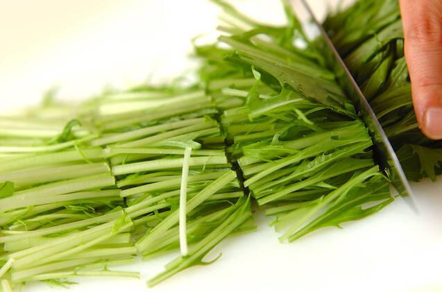 水菜の煮浸しの作り方の手順1