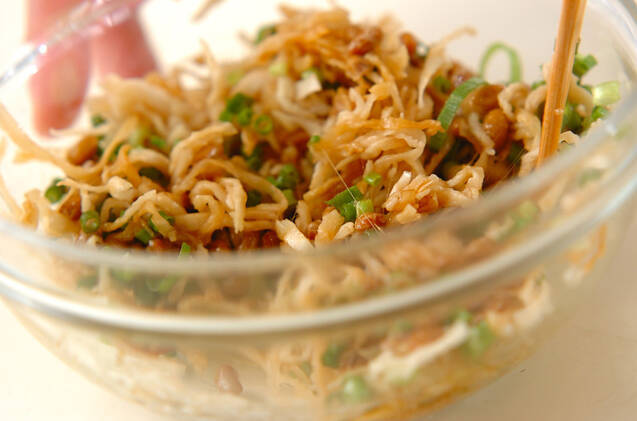 切干し大根と納豆のピリ辛和えの作り方の手順2