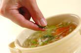 せん切り白ネギのスープの作り方5