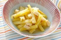 ジャガイモとホタテの炒め物