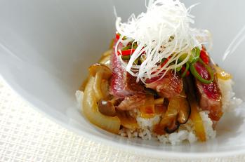 牛ロース肉のソテー・マルサラ酒風味ソース