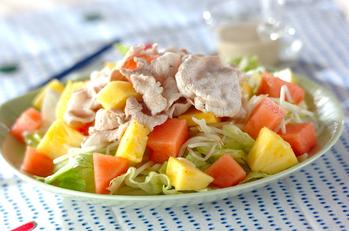 トロピカルフルーツ豚しゃぶサラダ