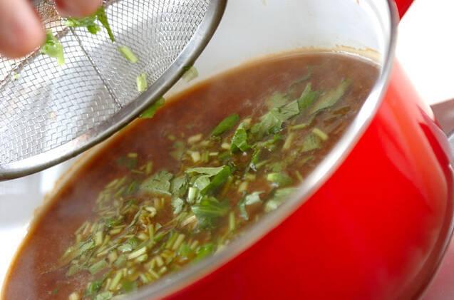 シジミのみそ汁の作り方の手順4