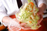 キャベツの甘酢和えの作り方1