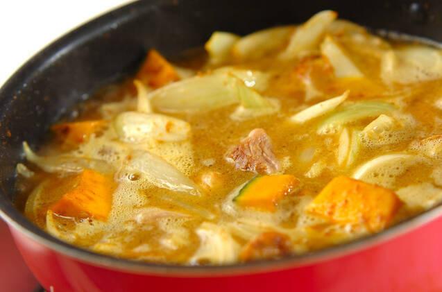 チキンとカボチャのカレーの作り方の手順7