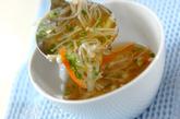 エノキのトロミスープの作り方2